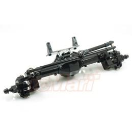 Ponts portiques avants et arrières SCX10 /II métal noir Xtra speed