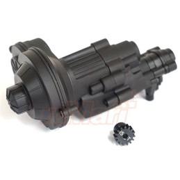 Boite de transmission alu noir complète pour SCX10-II Xtra Speed