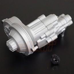 Boite de transmission alu Silver complète pour SCX10-II Xtra Speed