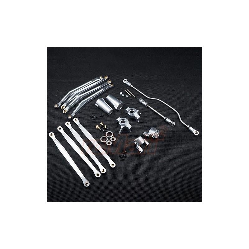 Combo pièces aluminium silver pour Wraith Xtra Speed