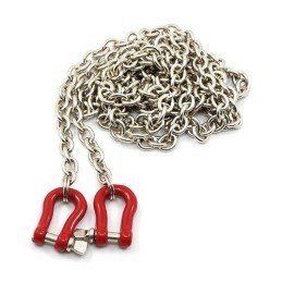 Chaine métal rockcrawler avec crochets manilles Yeah Racing