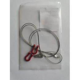 Cable acier avec crochets manilles Rouges CN Racing