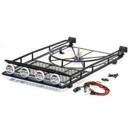 Galerie de toit acier avec SPOT Led AV/ARR.et support de roue Hobbytech