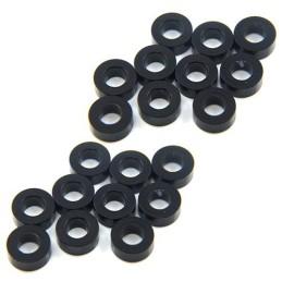 Entretoise/rondelle alu noir 2.5  mm pour vis M3 Yeah Racing(20)