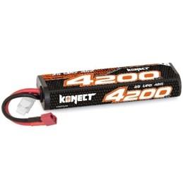 Konect Lipo 4200mah 7.4V 40C 2S1P prise Dean Hobbytech