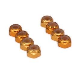 Ecrous freins aluminium gold M3 Freerun