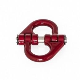 Double manille articulée 28 mm métal rouge  Hobbytech