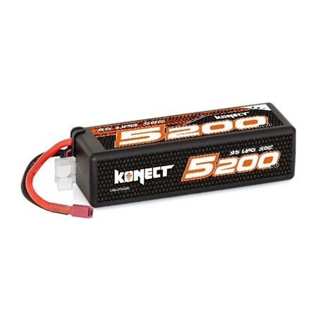 Konect Lipo 5200mah 11.1V 50C 3S1P 57.7Wh (Big Pack Dean) Hobbytech