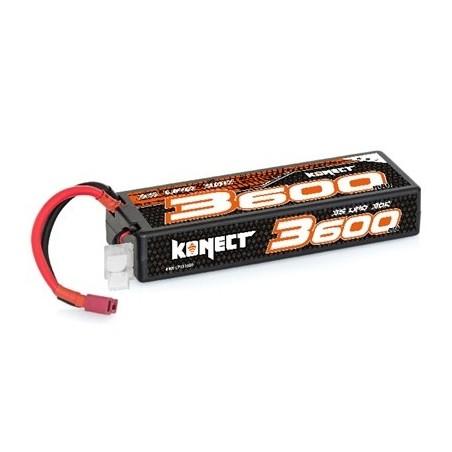 Konect Lipo 3600mah 11.1V 30C 3S1P 39.0Wh (Slim Pack Dean)  Hobbytech