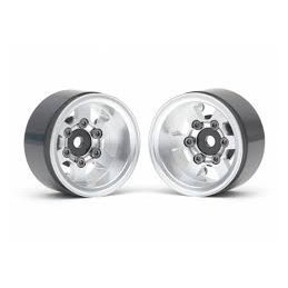 Jantes alu Silver  Boom Racing TE37XD KRAIT™ 1.55 Deep Dish  Beadlock  w/ XT601 Hubs (2)