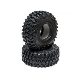 """Boom Racing HUSTLER M/T Xtreme 1.55"""" BABY Rock Crawling  3.74x1.3 SNAIL SLIME™ Compound W/ Open Cell Foams (Super Soft) 2pcs"""