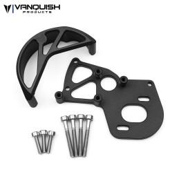 Plaque support moteur et protection couronne alu Noir VS4-10  Vanquish
