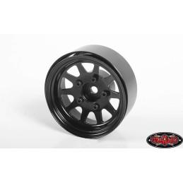 """Jantes métal Noires  OEM Stamped Steel 1.55"""" Beadlock RC4WD"""
