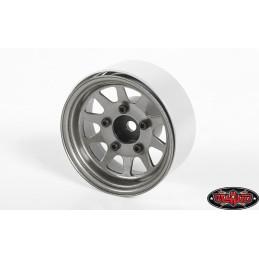 "Jantes métal Grises  OEM Stamped Steel 1.55"" Beadlock plain RC4WD"