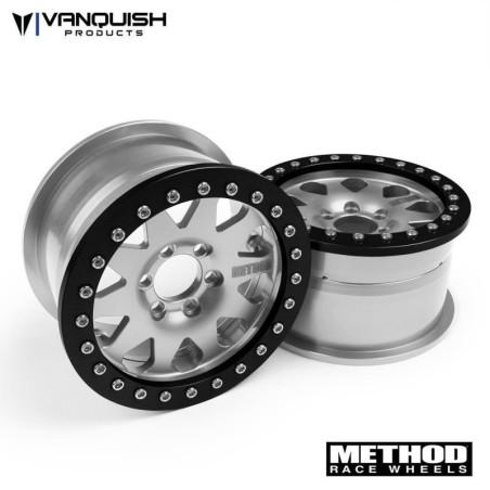 "Jantes alu 2.2 Method Silver 1.2"" beadlock Race wheel Vanquish  VPS08001"