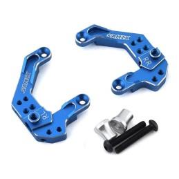 Support amortisseurs arrières alu bleu pour Enduro Samix END-6024BU