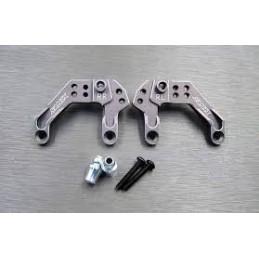 Support amortisseurs arrières alu Gun métal  pour Enduro Samix END-6024GM