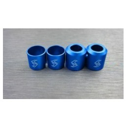 Embouts de cardans renforcés alu Bleu pour Enduro Samix END-6043BU