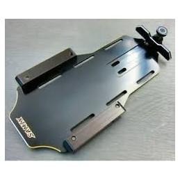 Support platine batterie alu Noir pour Enduro Samix END-4035