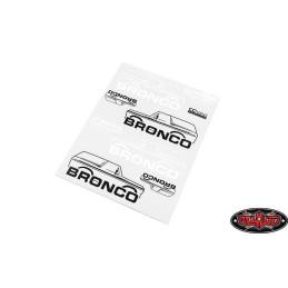 Autocollants déco Bronco Ranger XLT TRX4 RC4WD CChand VVV-C0493