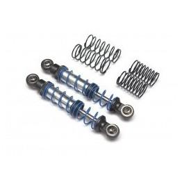 Amortisseur aluminium  Noir 70mm crawlers double ressort Team Raffee BRQ90333-70BK