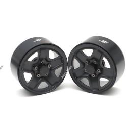 Jantes 1.9 Boom Racing  S200 Steelie Reversible Beadlock avec XT504 Hub (2)   Noire BRW780933BK