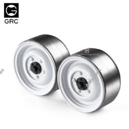 Jantes lourdes GRC 1.9 12-Hole Metal Classic Beadlock Blanches Series III (2)