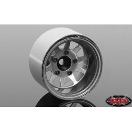 """Jantes métal grise  Deep Dish Wagon 1.55"""" Stamped  Beadlock  RC4WD Z-W0286"""