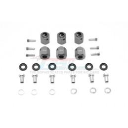 Hexagones de roues alu Gun Métal pour TRX6 GPM racing TRX6010/12MM-GS