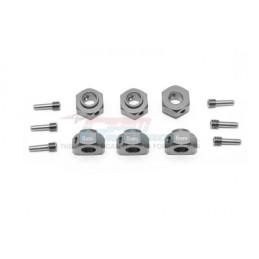 Hexagones de roues alu Gun Métal pour TRX6 GPM racing TRX6010/6MM-GS