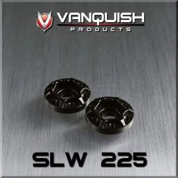 Hexagone de roue hubs SLW 225 alu noir epaisseur 6mm  Vanquish VPS07111