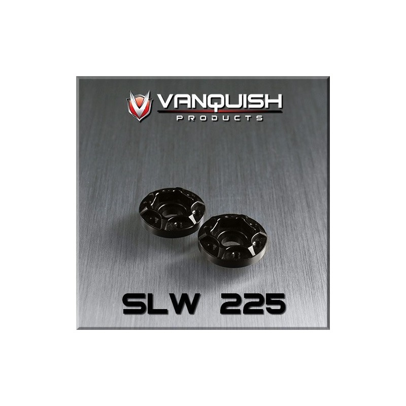 Hexagone de roue hubs SLW 225 alu noir Vanquish