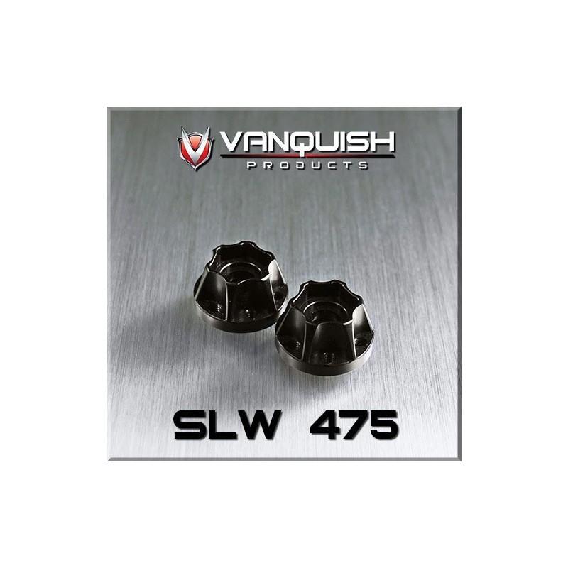 Hexagone de roue hubs SLW 475 alu noir Vanquish