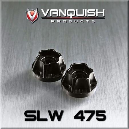 Hexagone de roue hubs SLW 475 alu noir epaisseur 12mm Vanquish VPS07113