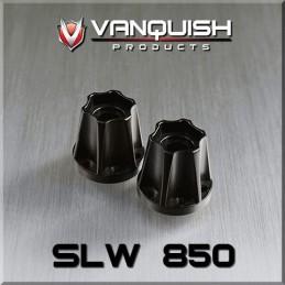 Hexagone de roue hubs SLW 850 alu noir Vanquish
