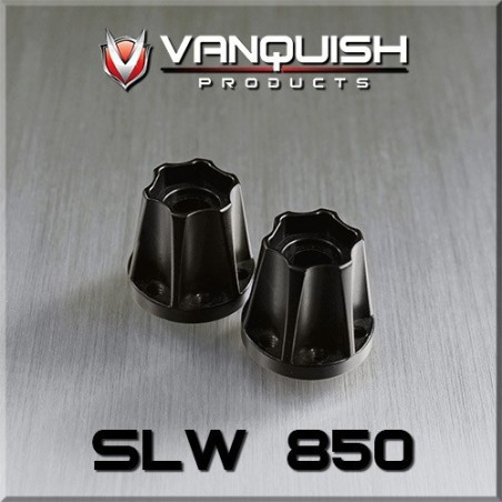 Hexagone de roue hubs SLW 850 alu noir epaisseur 21.8mm  Vanquish VPS07116