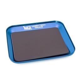 Plateau magnetique en aluminium BLEU 119X101mm  Hobbytech  HT-421850-BL