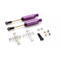 Amortisseur Boomerang alu Purple  interne type I scale 110mm Boom Racing(2)