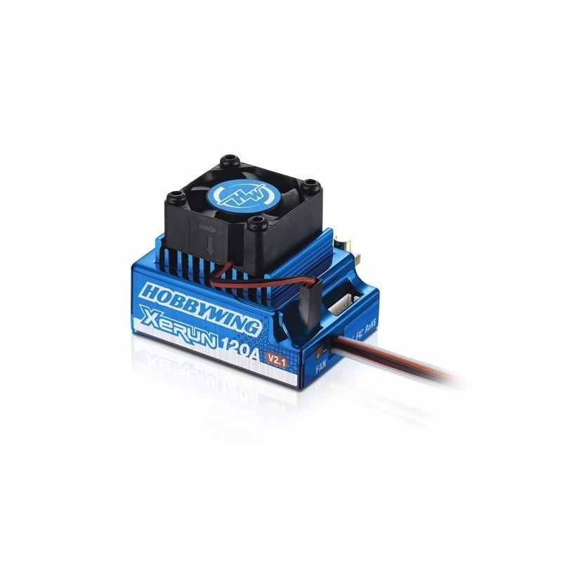 Variateur Xerun Brushless 120A SD V2.1 Bleu  Hobbywing 81020170
