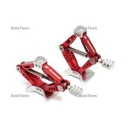 Cric full alu rouge 6T réglable Jack Boomracing (2)