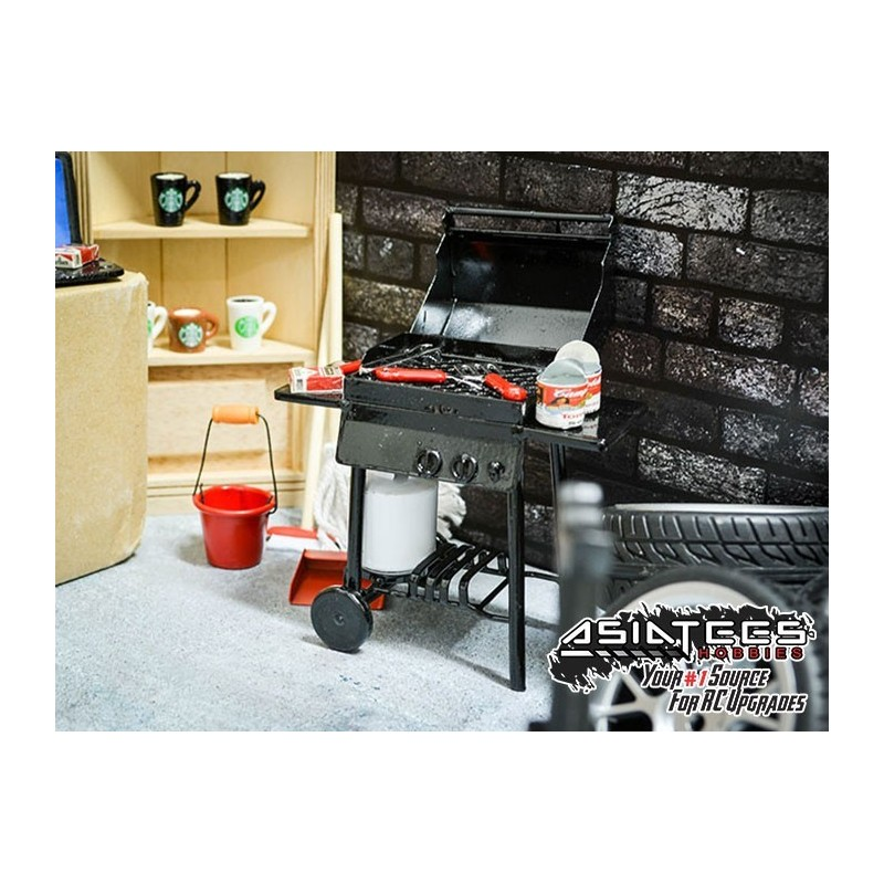 Barbecue grill déco scale avec bouteille gaz BoomRacing