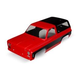 Carrosserie Chevrolet Blazer rouge peinte et décorée Traxxas 8130A