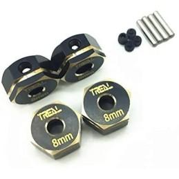 Hexagones de roues  alu Noir  8mm  pour Element Enduro  TREAL