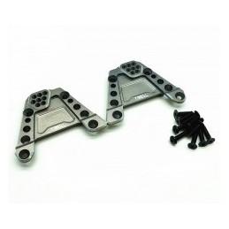 Support alu Gris  amortisseurs arrières pour SCX10 III  Treal