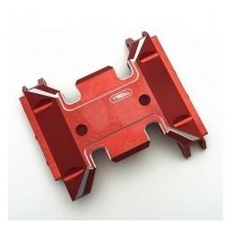 Skid en alu Rouge  pour SCX10 III   TReal