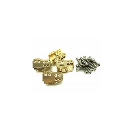 Supports de liens laiton Gold pour SCX10 II  TReal