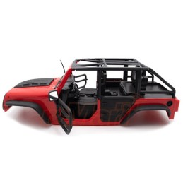 Carrosserie  Xtra Speed Jeep  peinte Rouge  front Tube Doors Kit 313mm (Parts A)     XS-59887AR
