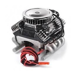 GRC Ventilateur 1/10 Vintage V8 Scale Engine w/ Radiator  Air Filter GRC/GAX0142A