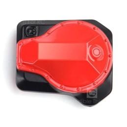 GRC Metal Pioneer capot Differentiel  noir et rouge pour  Traxxas TRX-4   GRC/GAX0121BR