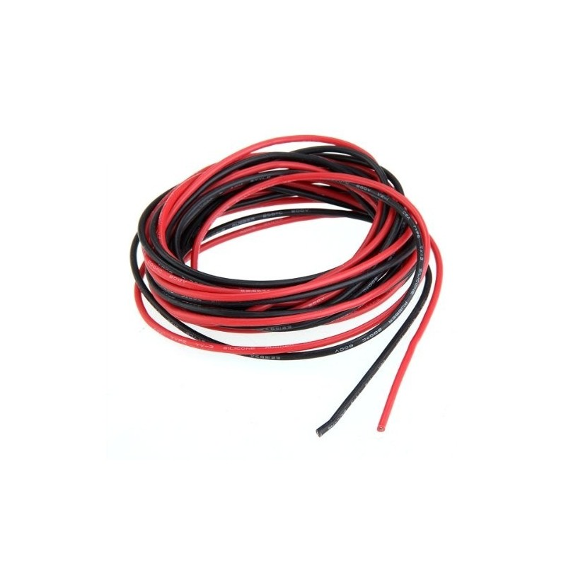 1ml Fil silicone Noir+1ml rouge  2.5 mm2-14AWG  H-Speed